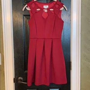 Burgundy semi formal dress medium Sweet Storm